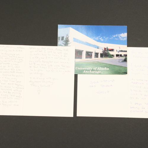 Cards and postcard from University of Alaska - Anchorage