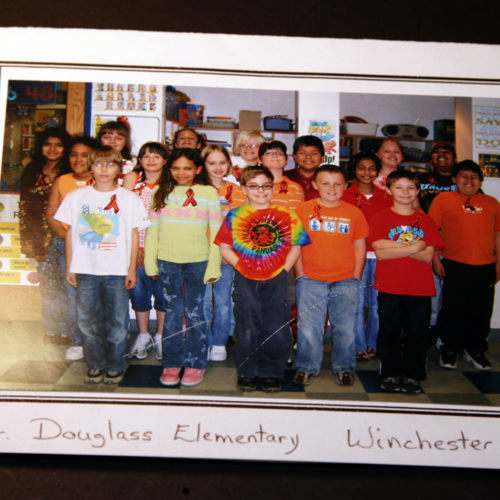 Photograph of Frederick Douglass Elementary School 4th Grade Class students