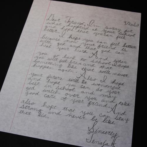Letter from Brader Elementary School
