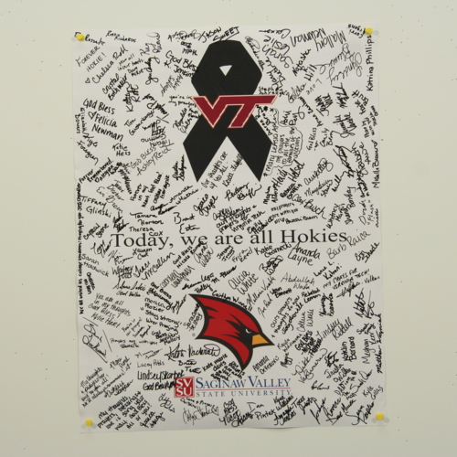 Poster from Saginaw Valley State University