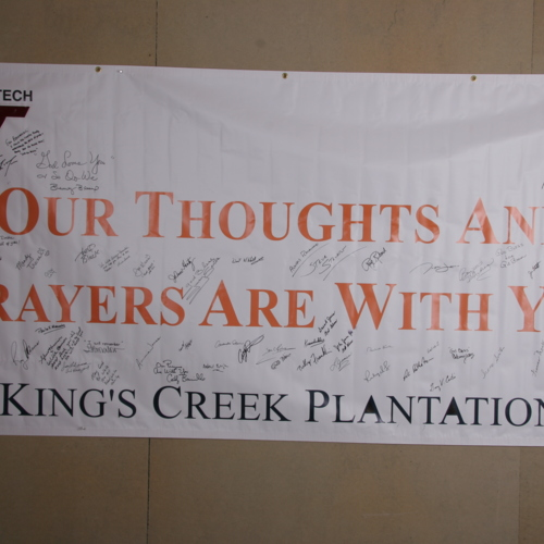 Banner from King's Creek Plantation