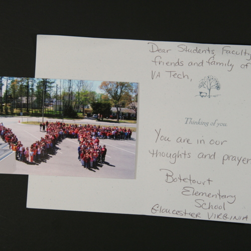 Card and photograph from Botetourt Elementary