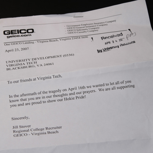 Letter from Geico