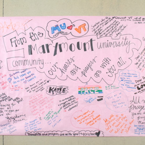 Banner from Marymount University
