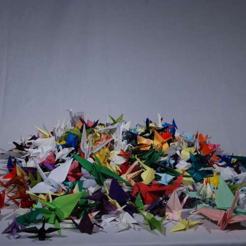 Paper Cranes from Fifth Graders at East Side School