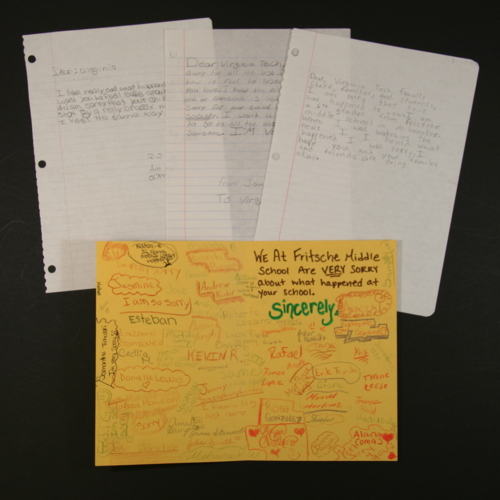 Letters from Fritsche Middle School
