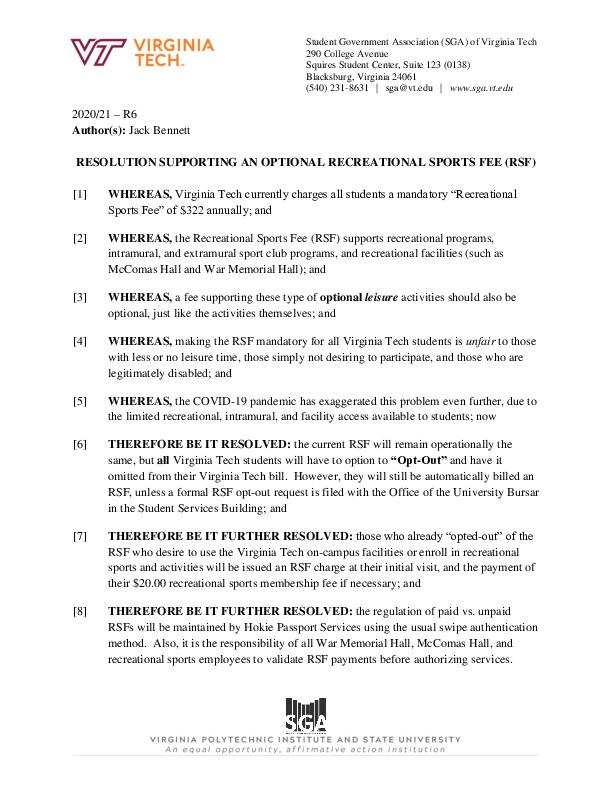 R6_ResolutionSupportinganOptionalRecreationalSportsFee(RSF).pdf