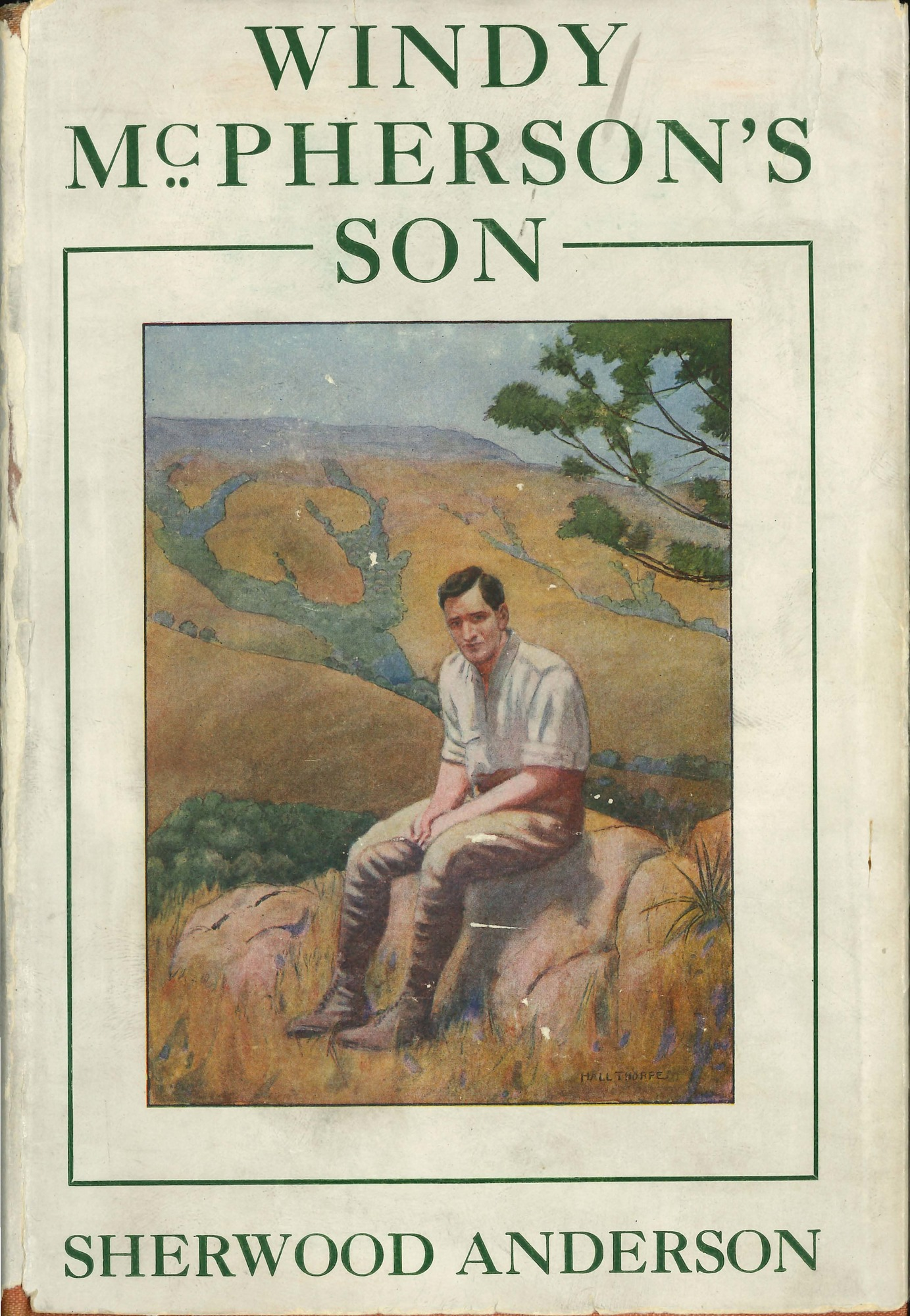 Dust jacket, <i>Windy McPherson's Son</i>, first edition