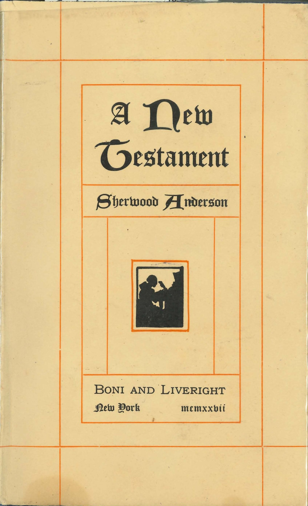 Dust jacket, <i>A New Testament</i>, first edition