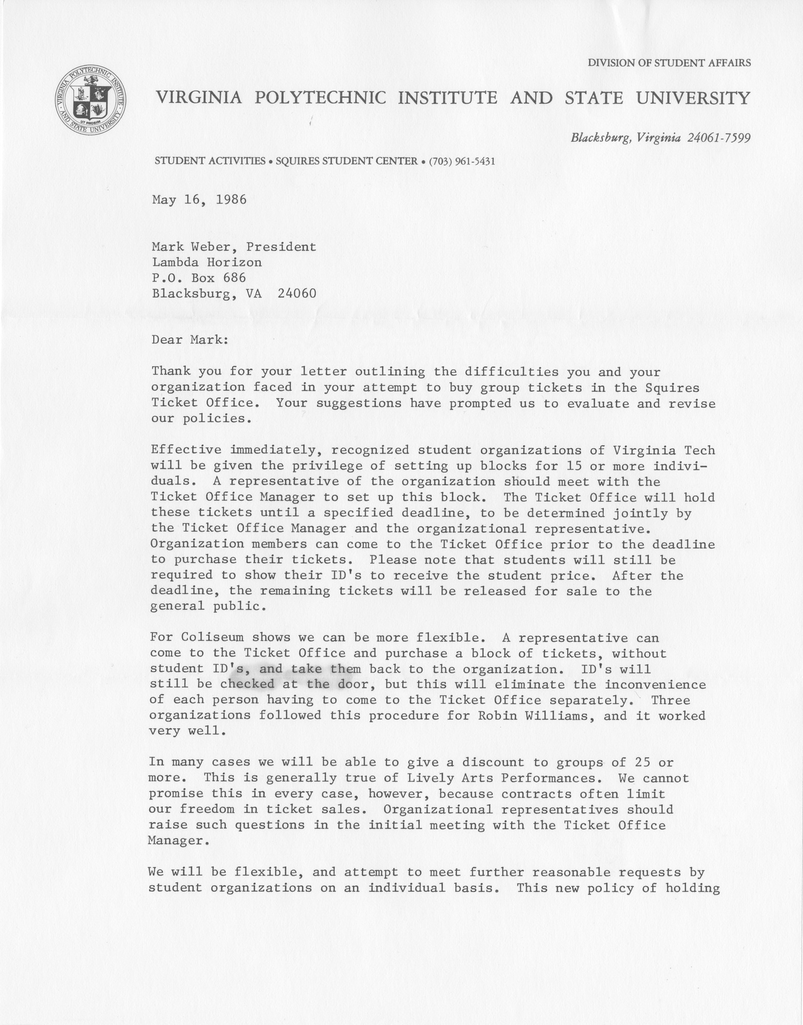 Ms2014-010_WeberMark_CorrespondenceSquiresStudentCenter_1986_0516a.jpg