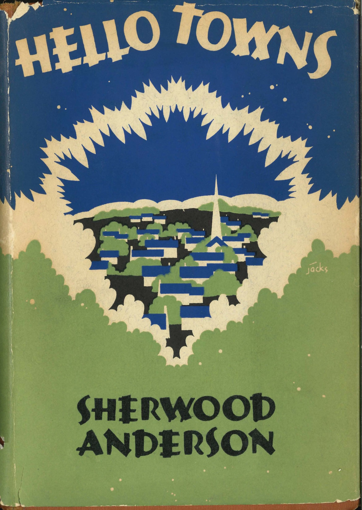 Dust jacket, <i>Hello Towns!</i>, first edition