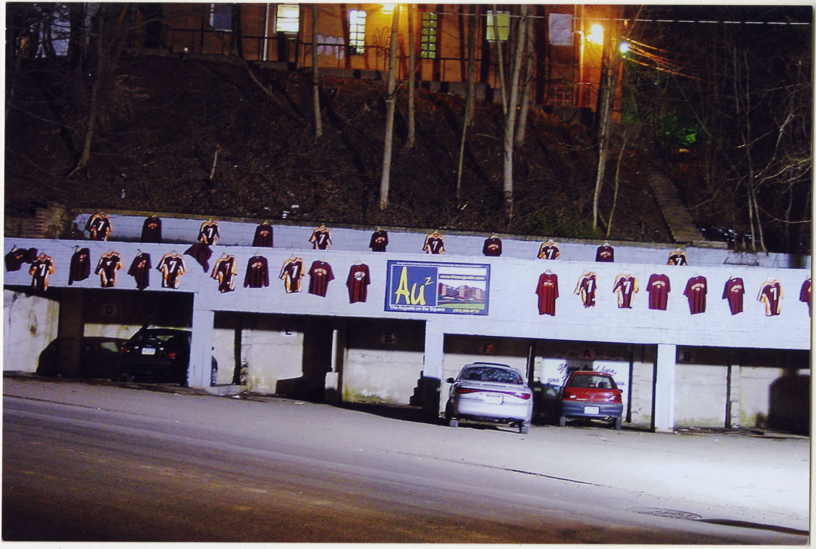 Photograph of a Parking Lot with VT Jerseys, F00048 (Ms2008-020)