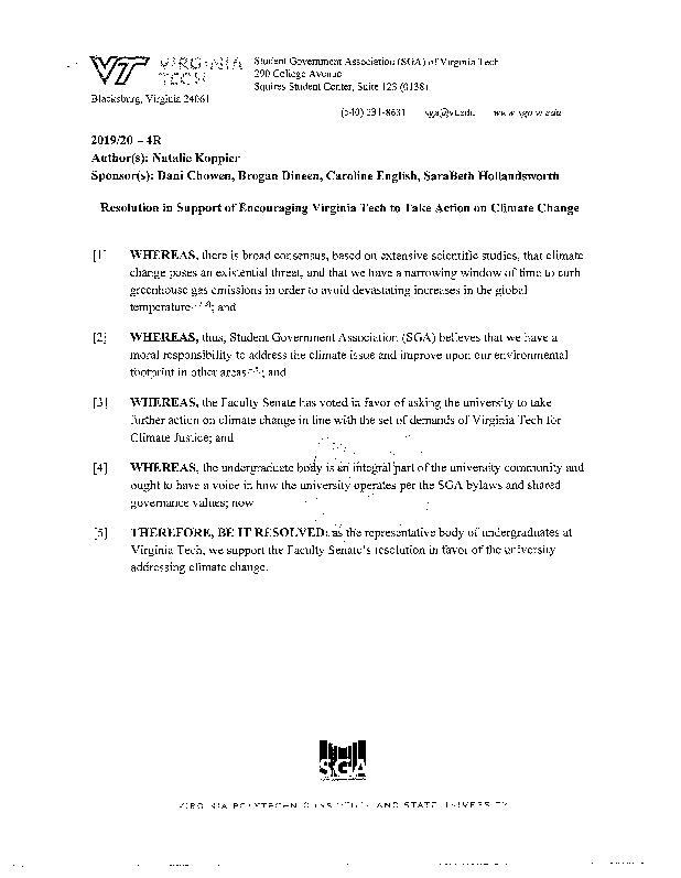 2019_2020-4R_ResolutioninSupportofEncouragingVirginiaTechtoTakeActiononClimateChange.pdf