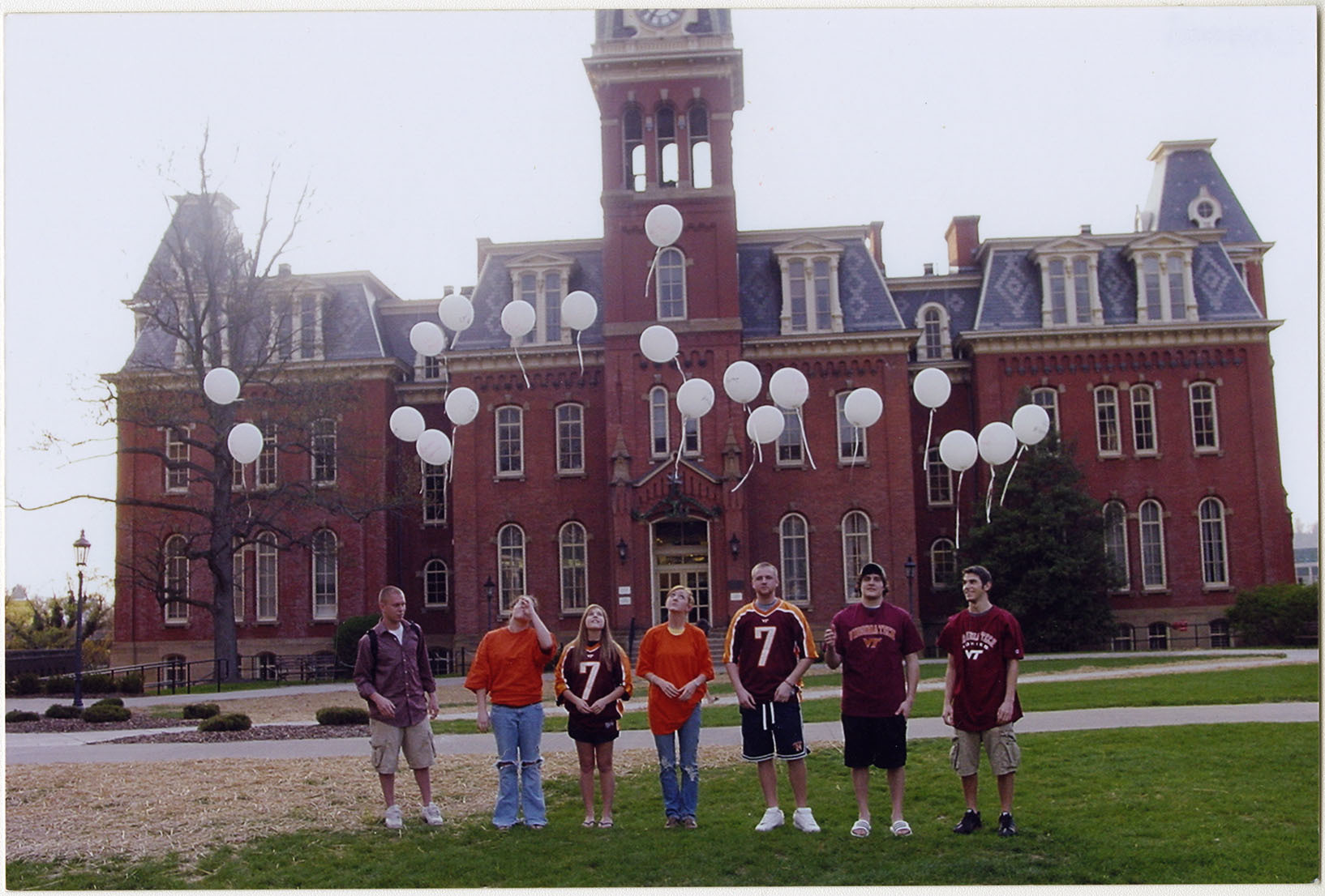 Photograph of Students Releasing Balloons, undated, F00048 (Ms2008-020)