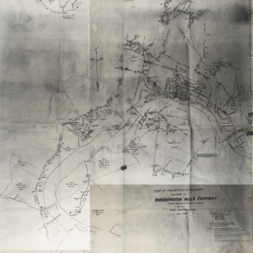Map of Properties in Boundary Conveyed to Washington Mills Company, 1901-1948 (Ms1989-039)