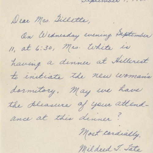 Mildred Tate Letter, 1940 (Ms1952-002)
