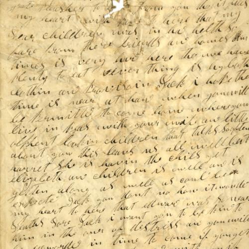 Nancy B. Harbin Letter, 1862 (Ms2010-013)