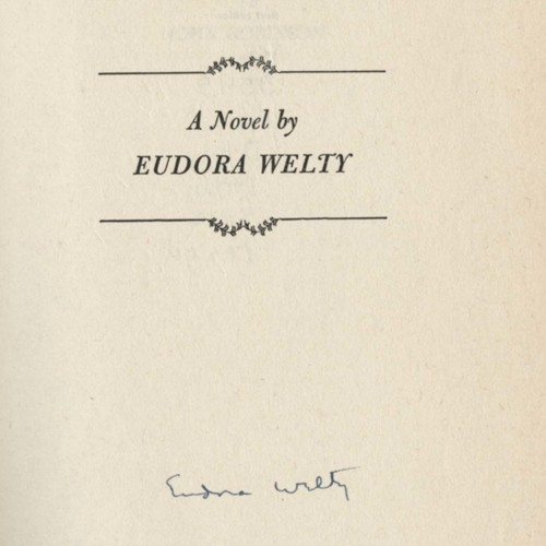 Author's signature,&nbsp;<em>Delta Wedding</em> by Eudora Welty (1946).&nbsp;