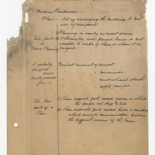 Selected page, Notebook, Florence Kenyon Hayden, n.d. (Ms2009-054)