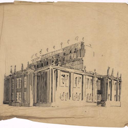 Sketch, unidentified building (Ms2003-015)