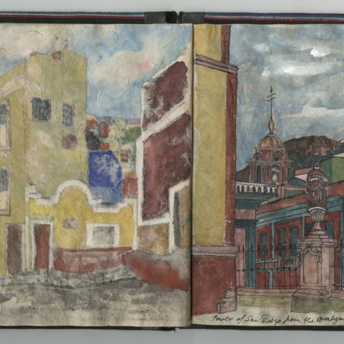 Travel sketch, Sigrid Rupp, Guanejuato, Mexico, November 15, 1988. (Ms1997-006)
