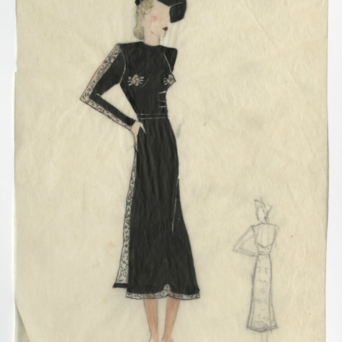 Fashion Sketch, Judith Roque-Gourary, nd (Ms2011-074)