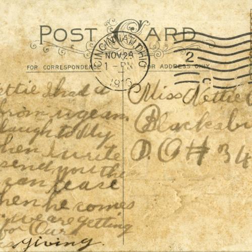 Postcard [to Nettie Anderson], Household of Ruth, Blacksburg Odd Fellows Records, 1916