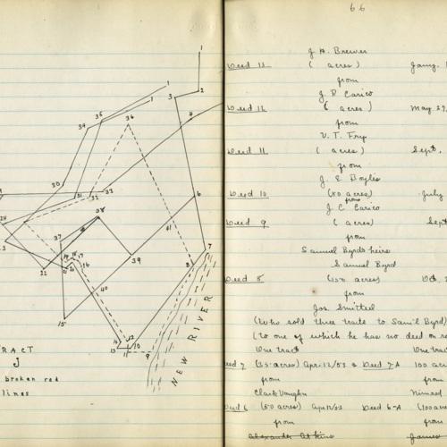 Sketch and Description of Land Parcels, 1899 (Ms1989-039)