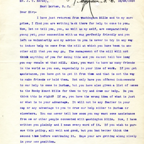 A Letter to a Poacher, 1905 (Ms1989-039)