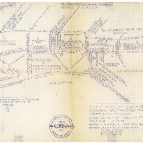 Plat of Parcel of Washington Mills Company Property, 1973 (Ms1989-039)