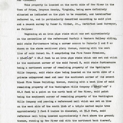 Description of a Land Parcel, 1973 (Ms1989-039)