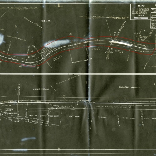 Virginia Department of Highways Right of Way Map and Deed, 1948 (Ms1989-039)