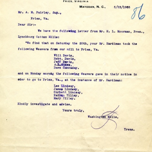 Letter About Poached Employees (Ms1989-039)