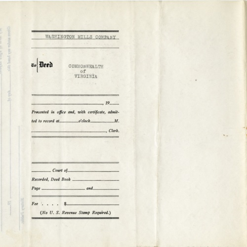 Deed for Right-of-Way for Maintenance Road, 1946 (Ms1989-039)