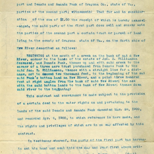 Contract for Sale of Land, 1902 (Ms1989-039)