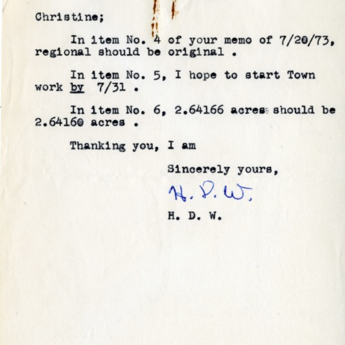 Note from a Surveyor, 1973 (Ms1989-039)