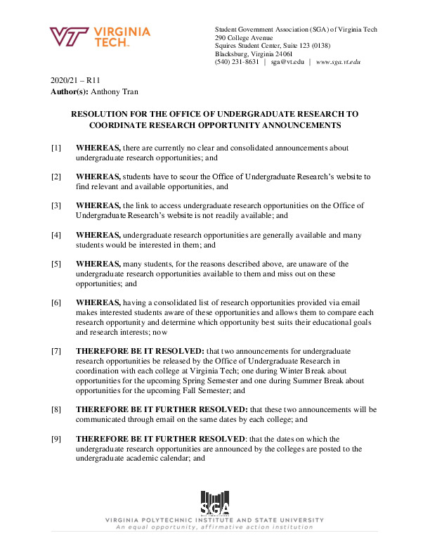 R11_ResolutionfortheOfficeofUndergraduateResearchtoCoordinateResearchOpportunityAnnouncements.pdf