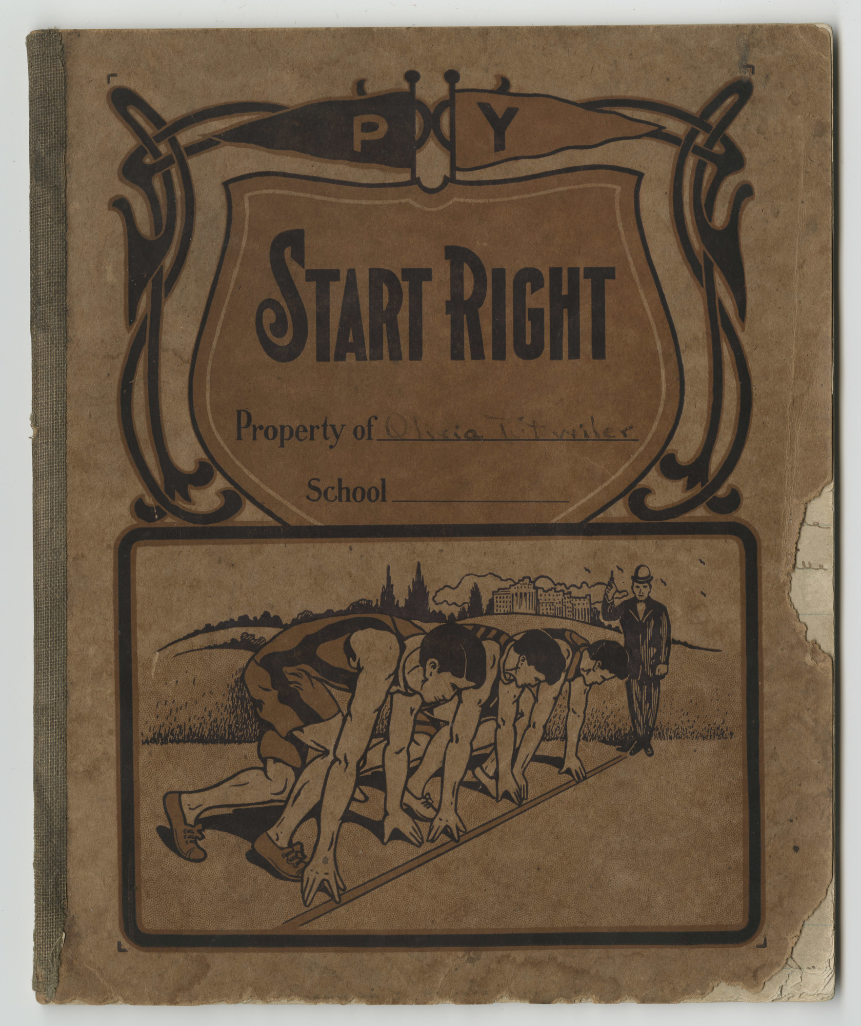 Ms2016-004__HillOliviaTutwiler_diary_1919_FrontCover.jpg